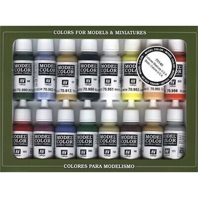 Vallejo Model Color Basic Colors Usa Acrylic Paint Set - Assorted Colours (pack