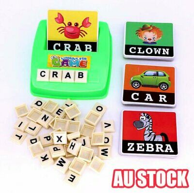 Literacy Scrabbler Early Education Puzzle Toys Gift J6