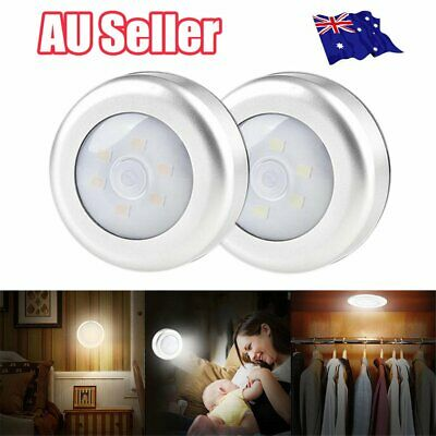 LED Night Light PIR Motion Sensor Infrared Wireless Battery Powered Wall Lamp J6