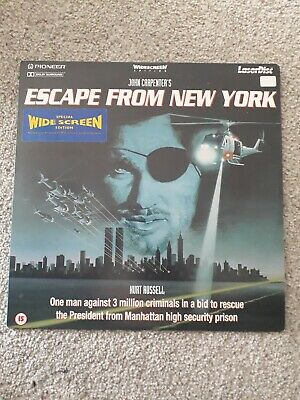 Escape From New York PAL Widescreen Laserdisc LD 1 Disc & Sleeve