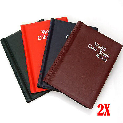 2X 120 Coin Storage Book Holder Collection Money Penny Album Collecting Pockets