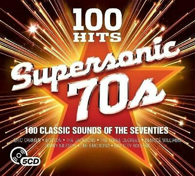 100 HITS - SUPERSONIC 70s - VARIOUS ARTISTS (NEW SEALED 5CD)