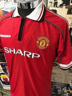 Original Manchester United FC 1998-2000 Shirt Football Home Jersey Umbro Youth
