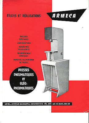 ARMECA COURBEVOIE - PRESSES / catalogue brochure prospekt dépliant