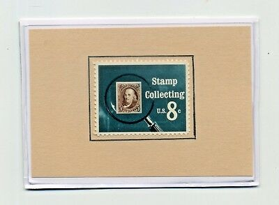 """Genuine US Postage """"STAMP COLLECTING"""" MAGNET Scott SG #1474 MINT 1972 - Gift!"""