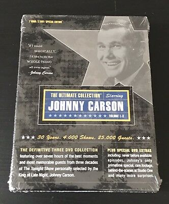 NEW / SEALED Johnny Carson: Ultimate Collection Vol 1-3 (DVD, 2002, 3-Disc Set)