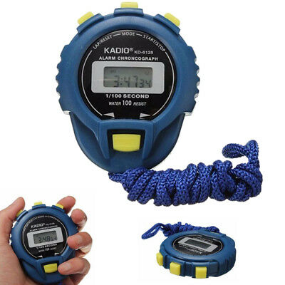 NEW LCD Chronograph Digital Timer Stopwatch Sport Counter Odometer Watch Alarm