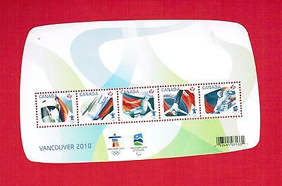 2009  Timbres Canada Stamps Mini  Sheet  # 2299 **  Vancouver Olympic  M-15