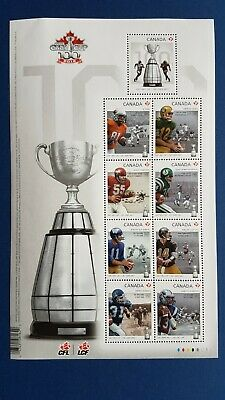 "Canada stamps Sc 2567 Souvenir Sheet of 9 stamps Grey Cup MNH, FV $9.45 ""P""value"