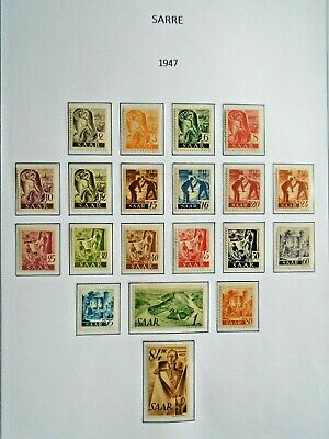 1947 Complete Set Saar Sarre Vf Mnh Germany Deutschland V14020 0.99$