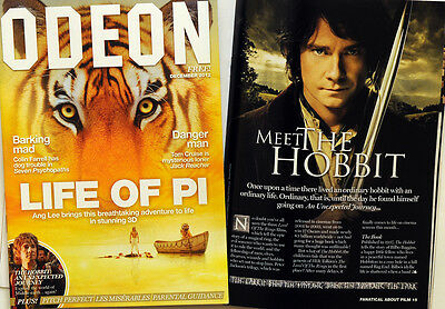 Odeon Cinema Magazine 2012 - Life Of Pi - The Hobbit An Unexpected Journey Etc