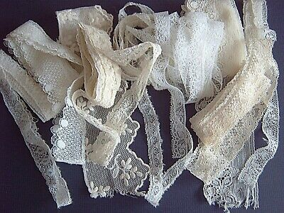 ~ Vintage Lace Edgings - Oddments For Doll's Clothes Or Craft Projects   [Jj]