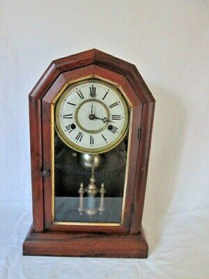 An American Jerome & Co. Walnut Self/Mantel Clock