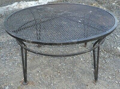 """Russell Woodard Sculptura MCM  Wire Mesh Wrought Iron black coffee table  34"""""""