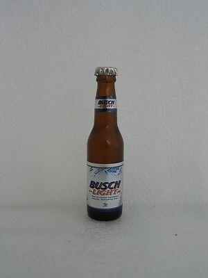 Busch Light Beer 3 inch Miniature Glass Bottle with printed bottle cap