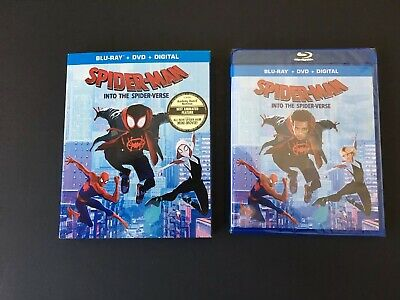 Spider-Man: Into The Spider-Verse/Blu-Ray+DVD+Digital Code/BRAND NEW