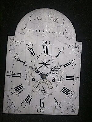 C1790 8 day LONGCASE GRANDFATHER CLOCK DIAL+movement 12X17   THo WILKS , Stratfo