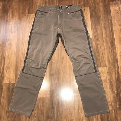 9ed3822054d276 Mens 34 32 Brown KUHL RADIKL Pant Stretch Climbing Hiking Pants Stretch  Hybrid