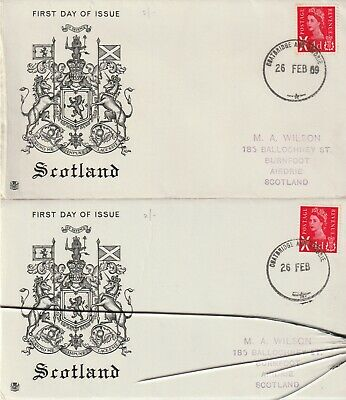 Stamps 1969 Scotland Regional Error & Corrected With Letter Postal History
