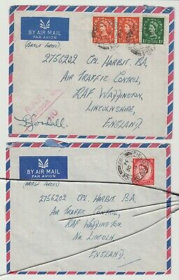 Stamps 1956 Raf Base Forces Air Mail To Raf Waddington Postal History