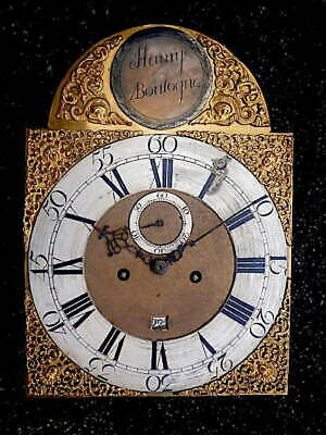 C1740 8 day LONGCASE GRANDFATHER CLOCK DIAL+movement 12X17     HAMMY BOULOGNE