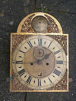 C1740 8 day LONGCASE GRANDFATHER CLOCK DIAL+movement 12X16+1/4     JOHN NETHERCO