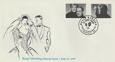 Stamps 1999 Royal Wedding Prince Edward Rd Heyden First Day Cover Postal History
