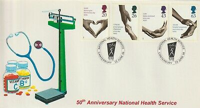 Stamps 1998 Health Canterbury Heyden First Day Cover Postal History