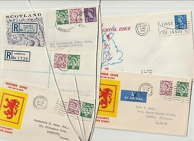 Stamps 1958 Regionals Scotland First Day Covers Postal History