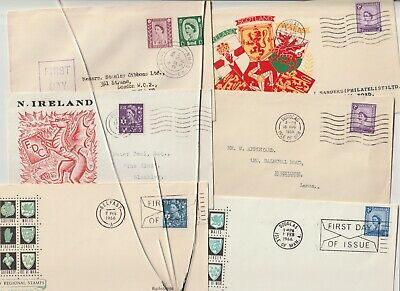 Stamps 1958 Regionals Northern Ireland First Day Covers Postal History