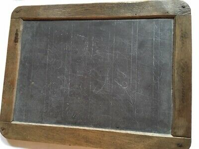 Vintage Retro School Slate Industrial Chic Blackboard Wooden Frame