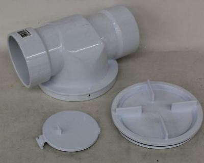 NEW OATEY 43904 Water System PVC Plastic 4 Inch Pipe Backwater Check Valve White
