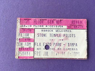 7-1 1994 Stone Temple Pilots Purple Tour W/ Redd Kross Tampa Fl Concert Ticket