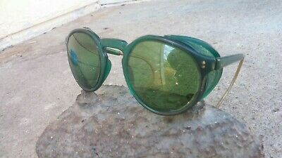 Super steampunk American Optical green frame & sides safety glasses Cesco lenses