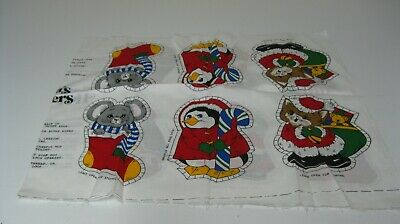 Vintage Santa Helpers  Christmas Toys  Cut And Sew Pillow