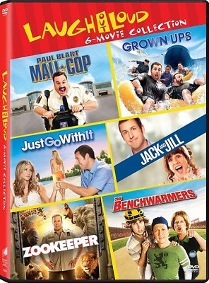 The Benchwarmers/Zookeeper/Grown Ups/Mall Cop/Jack and Jill/Just Go With It DVD