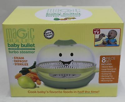 BABY BULLET BS-102 Turbo Steamer Sterilize Defrosts Baby Food Cooking BNIB