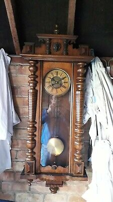 Antique Vienna Wall Clock 4ft in length