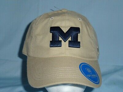 outlet store sale f6754 a18a9 MICHIGAN WOLVERINES Khaki Adjustable CAP HAT One Size Fits Most NWT  25  retail