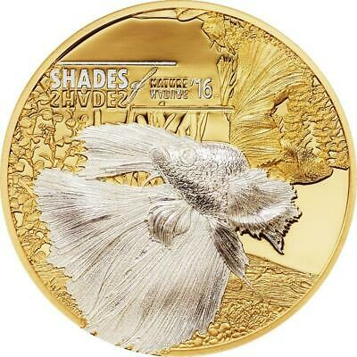 Cook Islands 2016 $5 Shades of Nature Fighting Fish 25 g Silver Coin