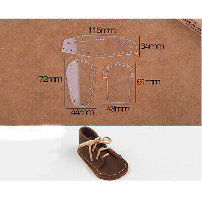 Leather Craft Clear Acrylic Shoe mold Mould Pattern Stencil Template Set
