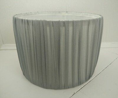 Lamp Shade silver grey fabric Barrel shape light lamp shade Drum shade