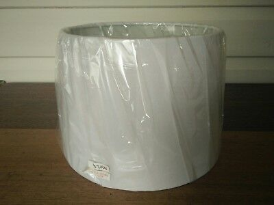 White lamp shade, Drum lamp shade, Barrel shape white lamp shade Like New