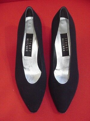 0e850fc21591 Stuart Weitzman Classic Black Fabric Pumps Heels Career Dress Formal Shoes  7 B