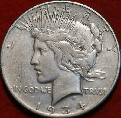 1934-S San Francisco Mint Silver Peace Dollar