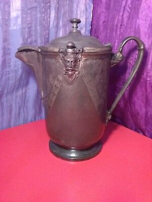 Antique Reed And Barton Silver Plated Porcelain Insert Pitcher