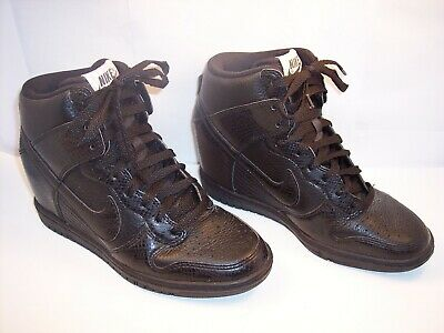 73563a2322d3 Nike Women s Size 6 Dunk Sky Hi Black Snake Print Leather Wedge 528899-010