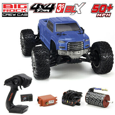 ARRMA AR102711 Big Rock Crew Cab 3S BLX Brushless 1/10 4WD Monster Truck Blue