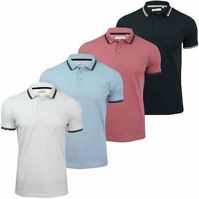 Xact Mens Beach Polo Short Sleeved  With Tipped collar