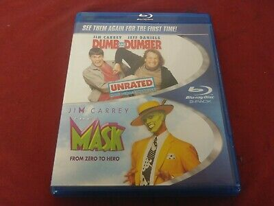 Dumb And Dumber Jim Carrey Jeff Daniels Unrated & The Mask 2 Movie Bluray Dvd Pg